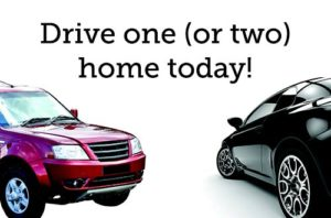 Drive one (or two) vehicles home today!
